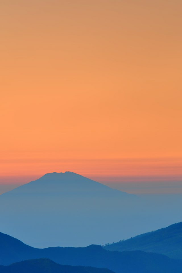 Landscape Sunrise Mountain Nature Red Blue iPhone wallpaper