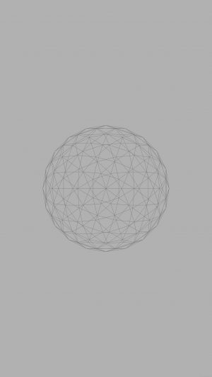 Line Abstract Circle 3d Art Gray iPhone 8 wallpaper