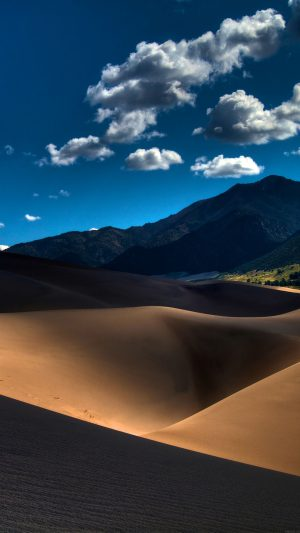 Line In Sand Desert Mountain Nature iPhone 8 wallpaper
