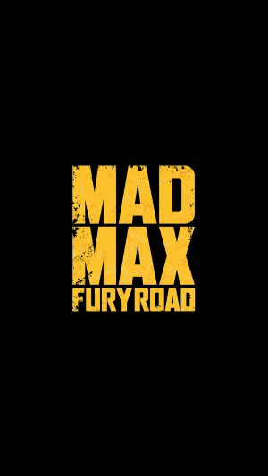 Madmax Furyroad Film Poster Minimal Logo Art Dark iPhone 8 wallpaper