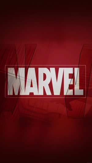 Marvel Logo Film Art Illust Minimal iPhone 8 wallpaper