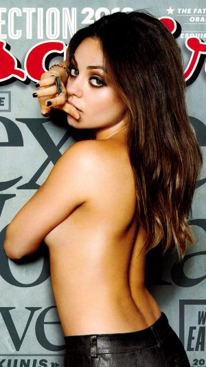 Mila Kunis Esquire Film Girl Face iPhone 8 wallpaper