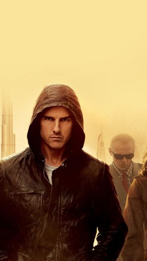 Mission Impossible Tom Cruise Film Art Yellow iPhone 8 wallpaper