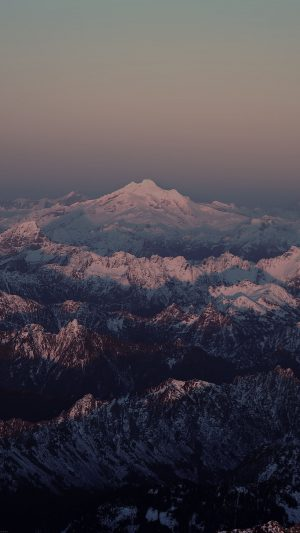 Mountain Dark Snow In Sunset Shadow Nature iPhone 8 wallpaper