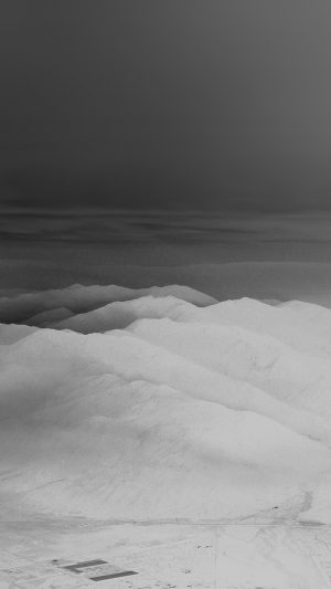 Mountain Fog Nature White Bw Gray Sky View iPhone 8 wallpaper