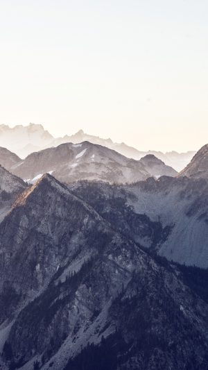 Mountain Layer View Nature Top Blue iPhone 8 wallpaper