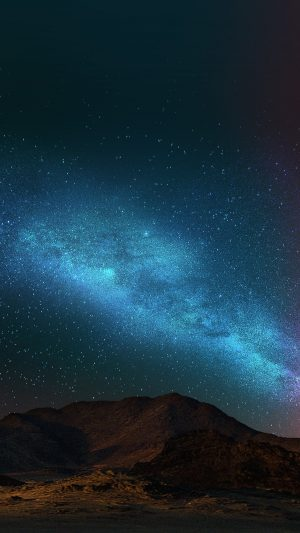 Night Sky Dark Color Star Shining Nature iPhone 8 wallpaper