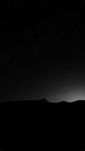 Night Sky Silent Wide Mountain Star Shining Nature iPhone 8 wallpaper