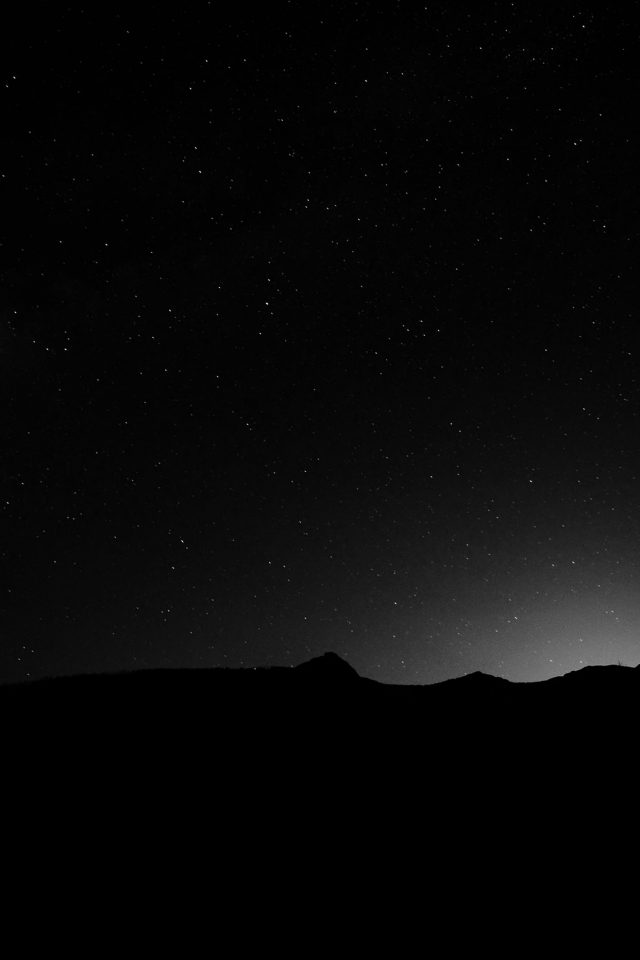 Night Sky Silent Wide Mountain Star Shining Nature iPhone wallpaper
