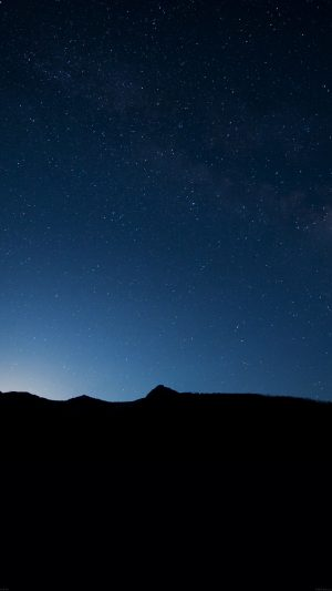 Night Sky Wide Mountain Star Shining Nature iPhone 8 wallpaper