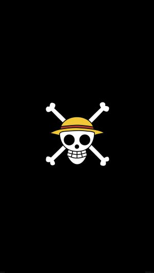 One Piece Logo Art iPhone 8 wallpaper