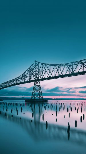 Oregon Bridge Sea Nature iPhone 8 wallpaper