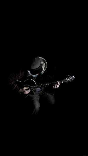 Out The Dark Guitar Player Music iPhone 8 wallpaper