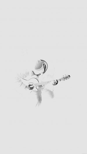 Out The Dark Guitar Player Music White iPhone 8 wallpaper