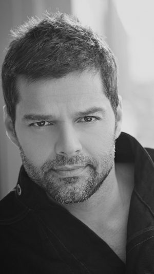 Ricky Martin Music Artist Singer Celebrity Dark Bw iPhone 8 wallpaper