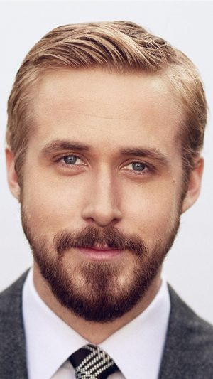Ryan Gosling Face Celebrity Film Star iPhone 8 wallpaper