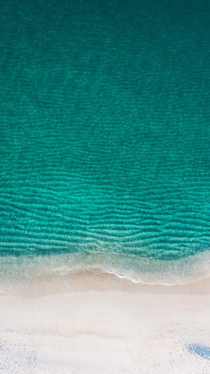 Sea Ocean Green Minimal Nature Wave Earth iPhone 8 wallpaper