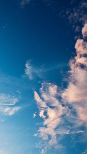 Sky Blue Cloud Sunny Clear Nature iPhone 8 wallpaper