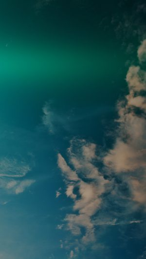 Sky Blue Green Cloud Sunny Clear Nature Flare Dark iPhone 8 wallpaper