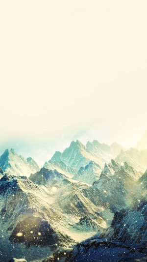 Snow Ski Mountain Love Winter Nature iPhone 8 wallpaper