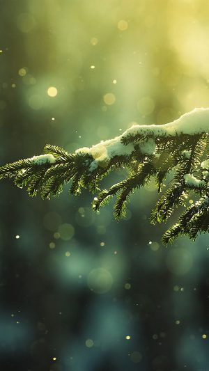 Snowing Tree Winter Nature Mountain iPhone 8 wallpaper