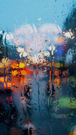 Somedays Rain Window Wet Nature iPhone 8 wallpaper