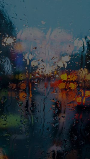 Somedays Rain Window Wet Nature Dark iPhone 8 wallpaper