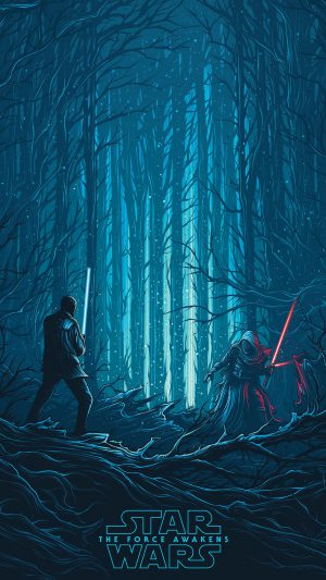 Starwars Illustration Blue Art Film iPhone 8 wallpaper