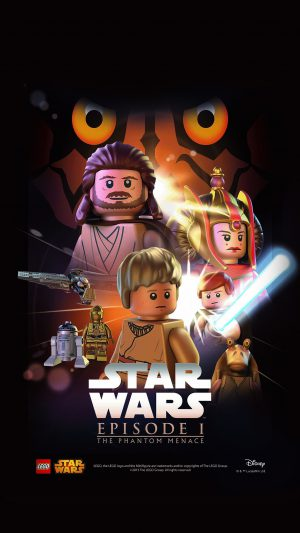Starwars Lego Episode 1 Phantom Manace Film Art iPhone 8 wallpaper