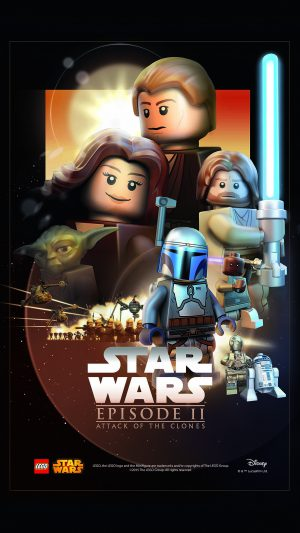 Starwars Lego Episode 2 Attack Of Clones Art Film iPhone 8 wallpaper