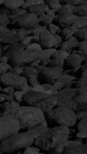 Stone Rocks Beach Nature Pattern Dark iPhone 8 wallpaper