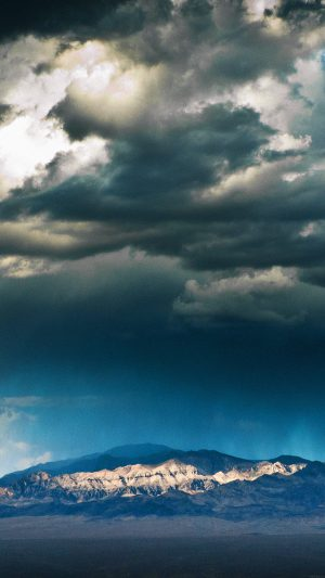 Storm Mountain Sky Nature iPhone 8 wallpaper