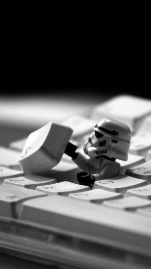 Storm Trooper Starwars Keyboard Film iPhone 8 wallpaper