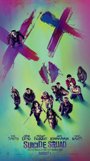 Suicide Squad Poster Film Colorful Art Illustration iPhone 8 wallpaper