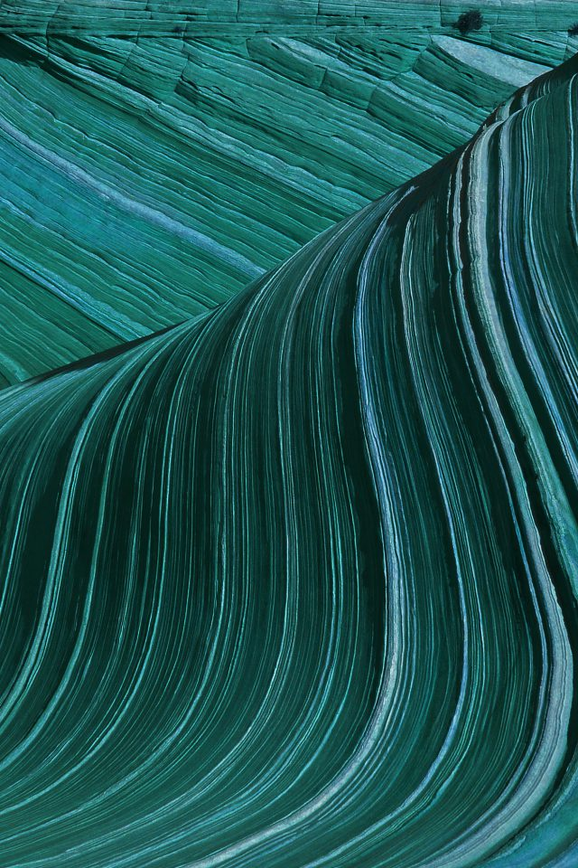Swirling Patterns Wave Green Mountain Nature iPhone wallpaper