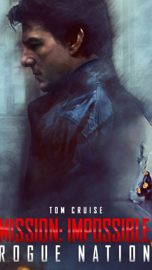 Tom Cruise Mission Impossible Rogue Film Poster iPhone 8 wallpaper