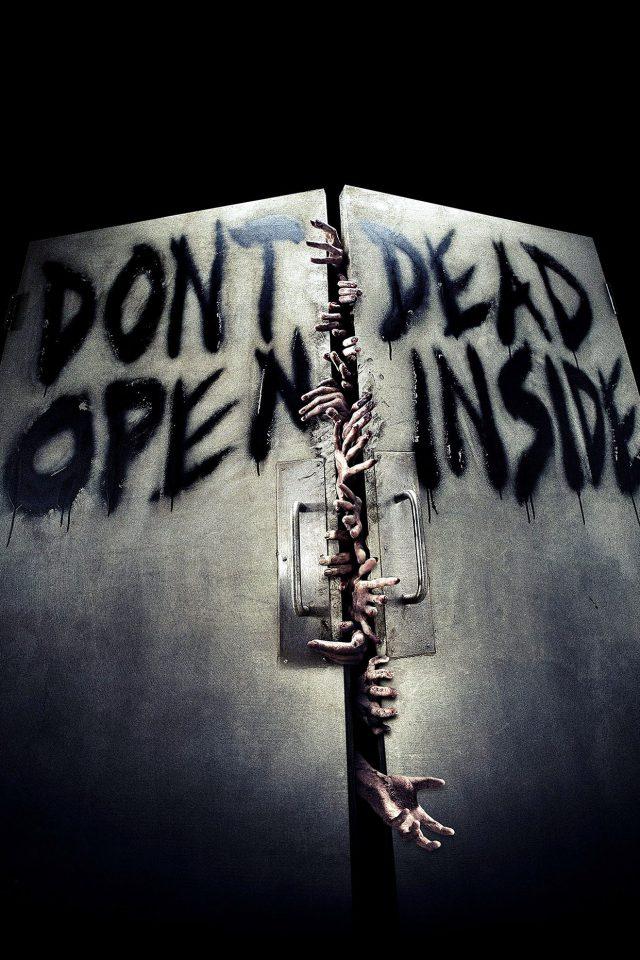 Walking Dead Inside Film Art Iphone 8 Wallpaper
