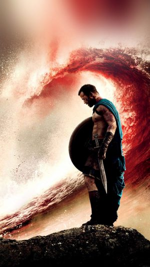 Wallpaper 300 Rise Of An Empire Wave Film iPhone 8 wallpaper