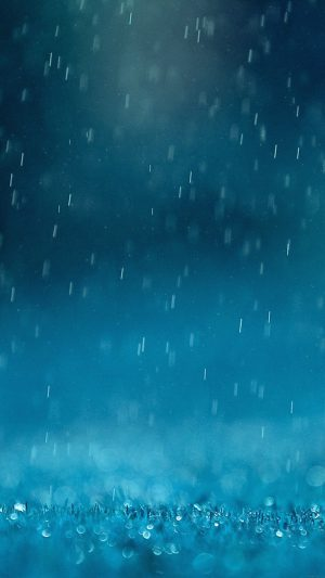 Wallpaper Blue Rain Finkle Nature iPhone 8 wallpaper
