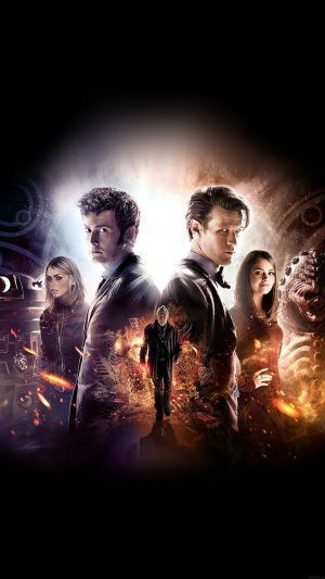 Wallpaper Doctor Who 50th Poster Film Face iPhone 8 wallpaper