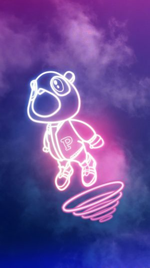 Wallpaper Drop Out Bear Of Kanye Illust Music iPhone 8 wallpaper