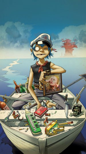 Wallpaper Gorillaz Boat Illust Music iPhone 8 wallpaper