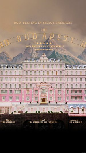 Wallpaper Grand Budapest Hotel Film Poster iPhone 8 wallpaper