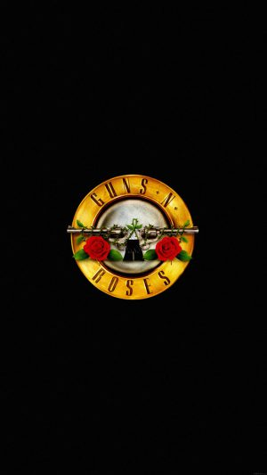 Wallpaper Guns N Roses Logo Music Dark iPhone 8 wallpaper