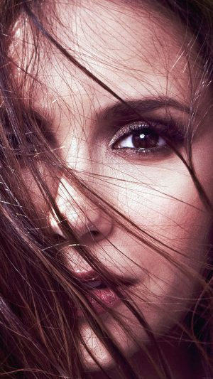 Wallpaper Nina Dobrev Face Film Star iPhone 8 wallpaper