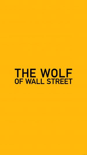 Wallpaper The Wolf Of Wallstreet Yellow Film Logo iPhone 8 wallpaper