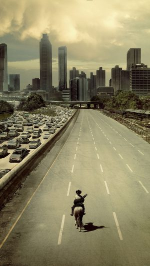 Wallpaper Walking Dead City Film iPhone 8 wallpaper