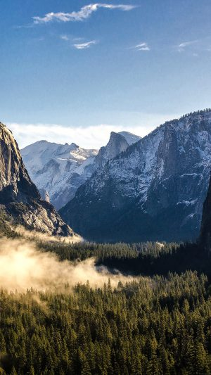 Wallpaper Yosemite Mountain Nature iPhone 8 wallpaper