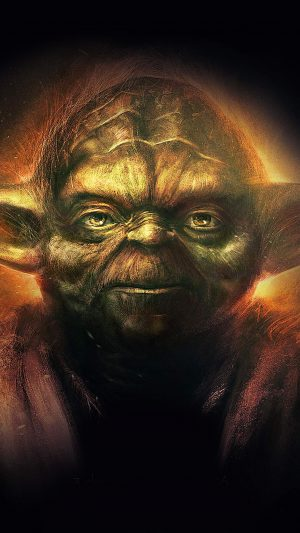 Yoda Starwars Art Dark Illlust Film Poster iPhone 8 wallpaper