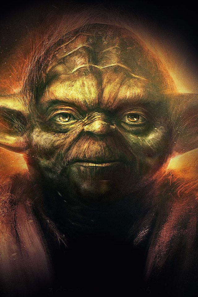 Yoda Starwars Art Dark Illlust Film Poster Iphone 8 Wallpaper Iphone8wallpapers Com